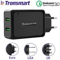 [EU 미국 영국] Tronsmart W2TF 2 USB 포트 퀄컴 인증 빠른 충전 3.0 USB 충전기 추가 VoltiQ 빠른 전화 벽 충전기 어댑