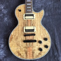 Free Shipping to G Custom Shop, Premium Natural Wood, Custom Electric Guitar, Guitar, Custom LP Guitar