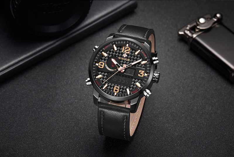WWOOR 8859 Watch Men Top Brand Luxury Quartz Men\'s Business Military Wrist Watches Leather Analog Clock Men relogio masculino (4)