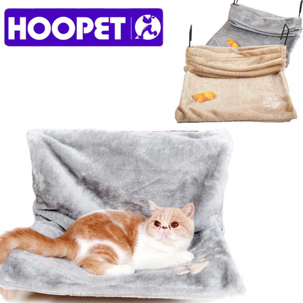 Cat Supplies Hoopet Cat Cradle Hammock Radiator Bed Cushion With Adjustable Holding Lounger For Cats Sheepskin Effect Cover Easy To Use Home & Garden