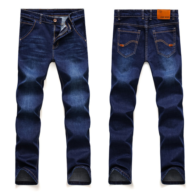 2019 Summer New Men Thin Jeans Business Casual Blue/black Elastic Force Fashion Denim Jeans Trousers Male Brand Pants