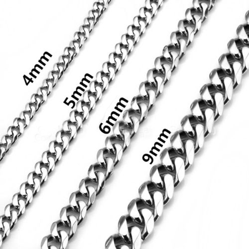 4 9mm Stainless Steel Necklace DIY Chain Fashion Mens ...