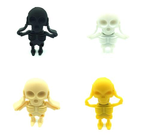 100% real capacity New Arrival Fashion Creative Skull usb flash drives 8GB 16GB 32GB 64G ...
