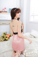 Underwear New Arrival Cotton Nuisette Babydoll The Skin Shiny Lace Sexy Lingerie women Halter On Hot Money L9500