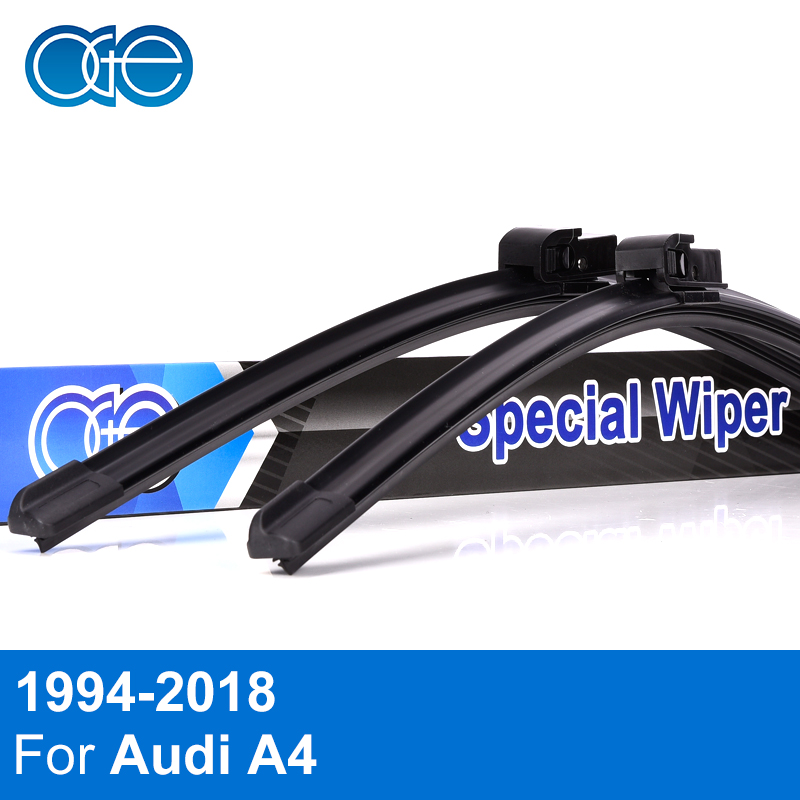 Oge Front And Rear Wiper Blades For Audi A4 B5 B6 B7 B8 B9 1994-2018 High Quality Rubber Windscreen Windshield Car Accessories oge windshield wiper blades for ford galaxy 1995 2001 28 28 r windscreen accessories