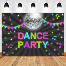 NeoBack Dance Party Birthday Backdrop Musical Colorful Flag Star Photography Background Adut Birthday Party Photo Backdrops dance star
