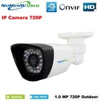 New Waterproof 1280 720P HD ONVIF Cloud Webcam Bullet Security IP Cam IR Night Vision