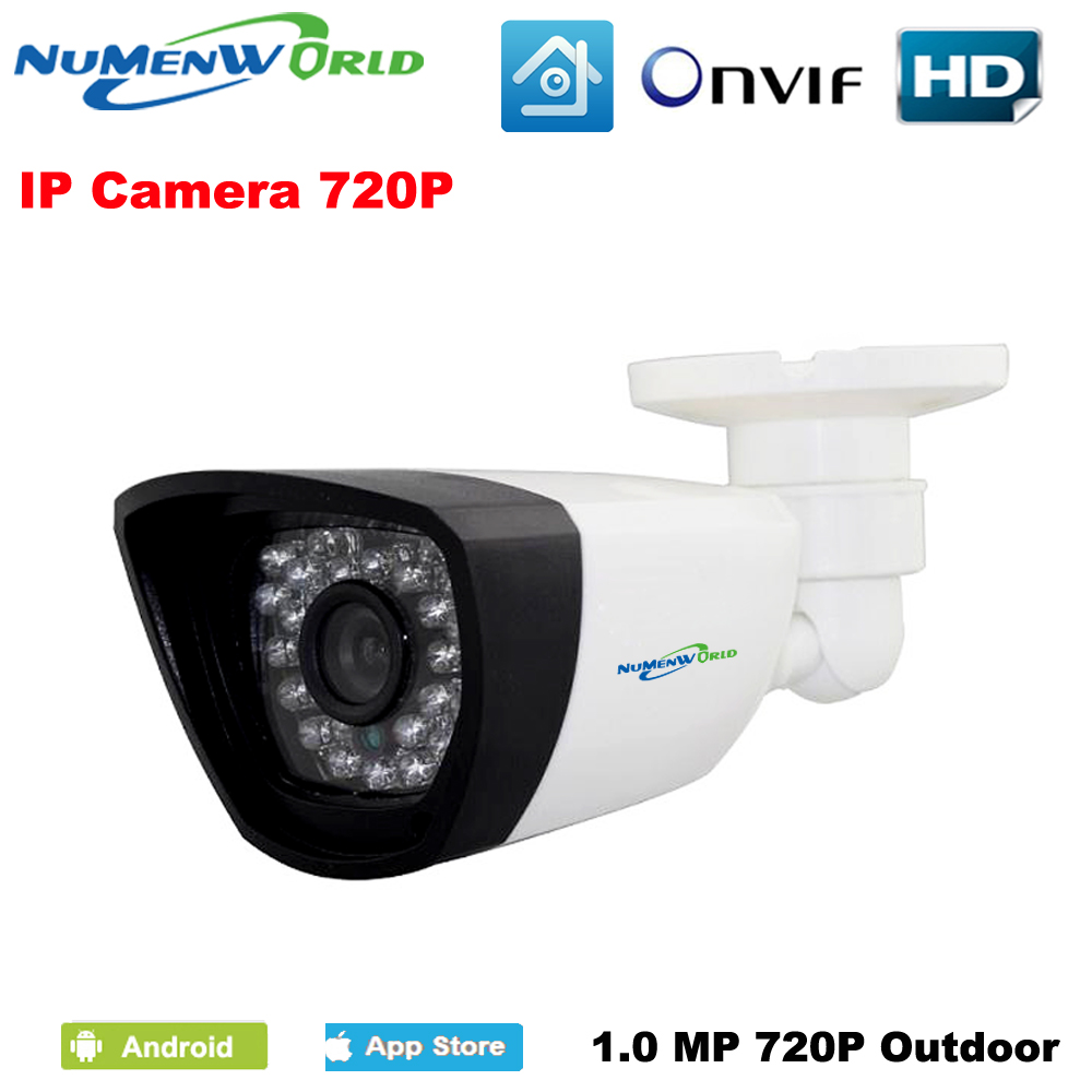 New Waterproof 1280*720P HD ONVIF Cloud Webcam bullet Security IP Cam IR Night Vision Camera Outdoor Indoor IP camera system fujikam fi 322 b6 hd 720p outdoor indoor waterproof cloud ip camera
