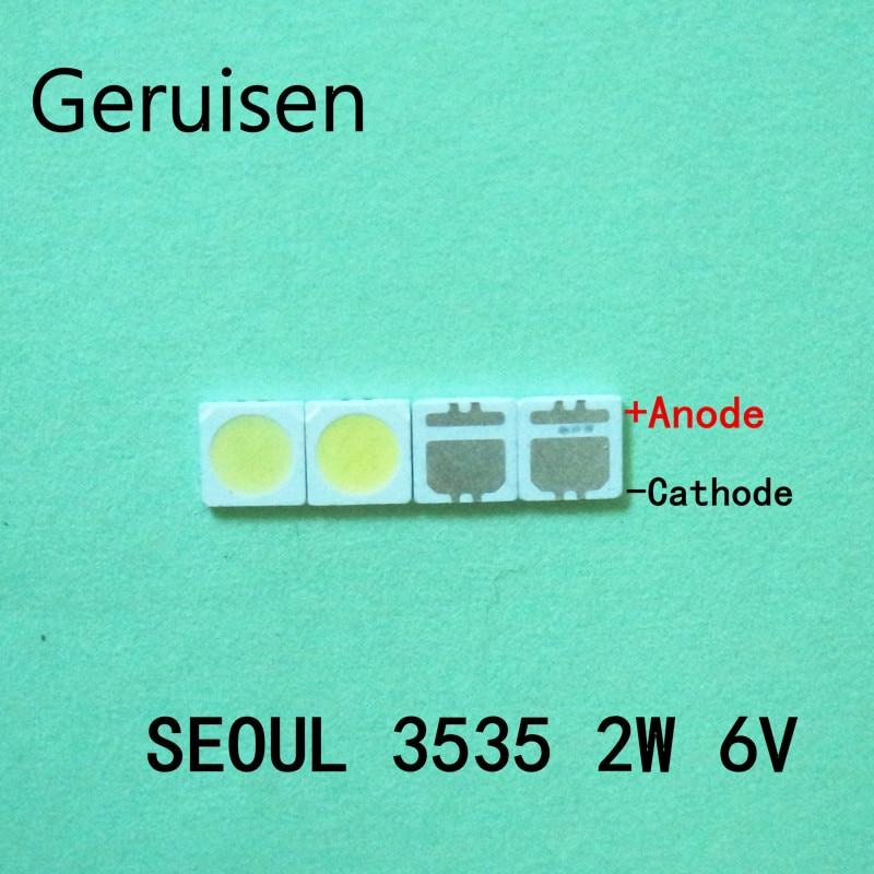 For 2000PCS Lot SEOUL 3535 6V 2W SMD Cold White LED High Power For LCD TV