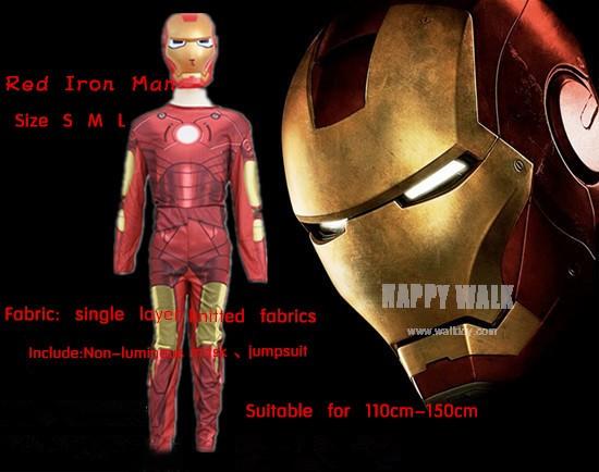 Iron Man Mark Patriot Muscle enfant Enfants Halloween Costume Fantasia Avengers Superhero Cosplay Outfit (1)