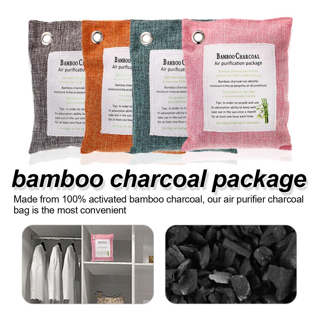Activated Bamboo Charcoal Moisture Control Air Purifier Deodorizer  2 Bag Set