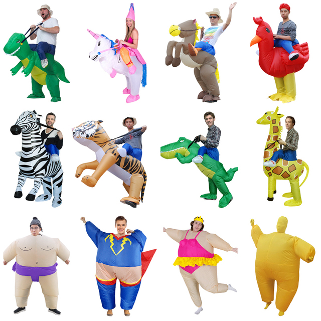 Adult Cosplay Costume Kids Inflatable Dinosaur Unicorn Cowboy Halloween Costumes For Women Wen Fantasia Party Jumpsuit 1