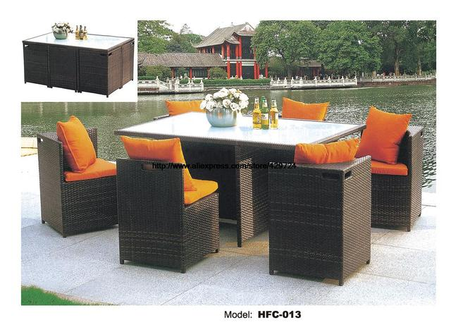 Creative En Osier Chaise Rotin Ourdoor Bureau Table Chaises Balcon Plein Air Meubles Combinaison