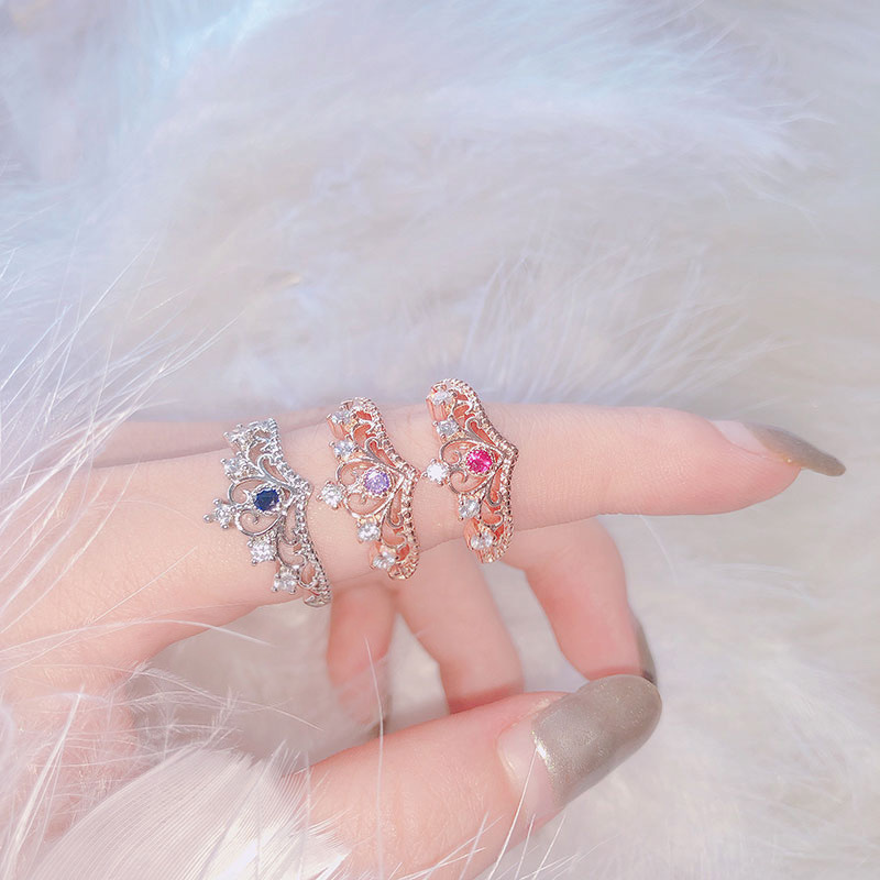 Princess Crown Style Rings