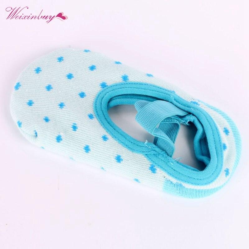 Милый младенческой точки Тапочки elestick группа Носки для девочек Обувь для девочек СИБ Детские Обувь для младенцев пинетки носки до лодыжки