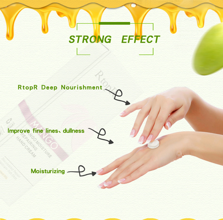 2PCS Mango Antibacterial Repair Hand Cream Deep Repair Skin Moisturizing Nourish Improves Dry Skin Care Health Anti-chapping