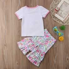 Girl Rabbit Bunny Ruffle Shirt Pants Easter Outfit Set