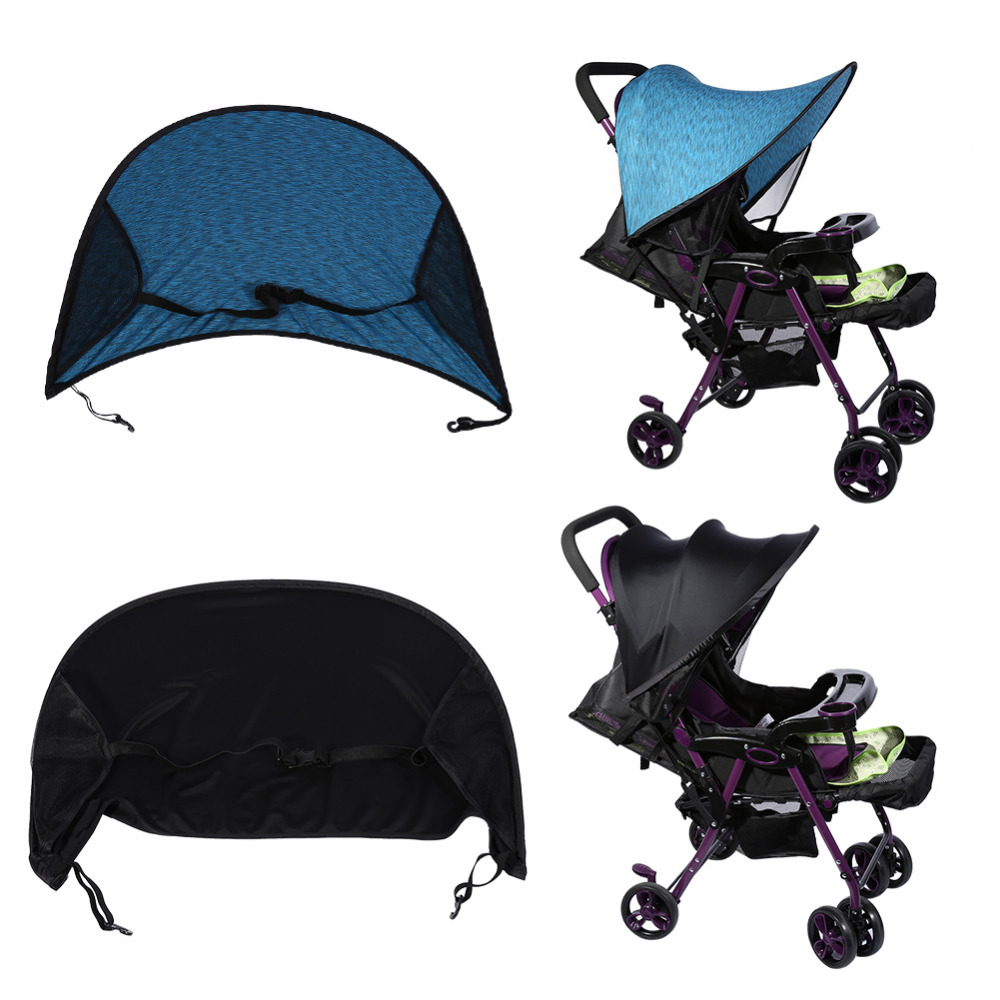 Toy Buggy With Car Seat Us 15 11 34 Off Baby Stroller Sunshade Hood Buggy Infant Car Seat Canopy Flexible Sun Blocking Cover Pushchair Sun Cover 2 Colors In Strollers