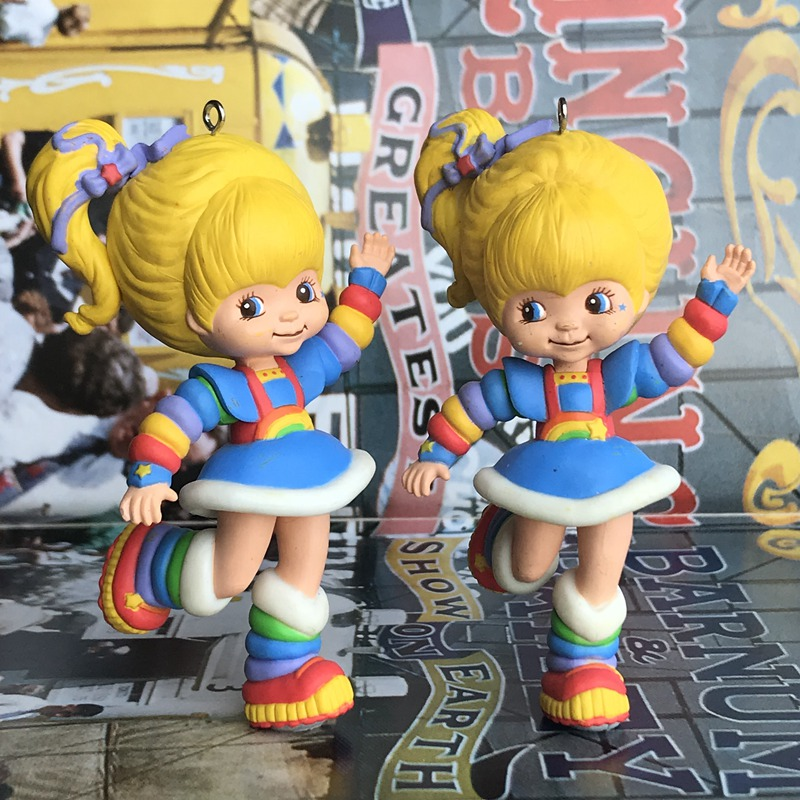 1pc Original Used Garage Kit Classic Rainbow Brite Beauty Princess PVC Figure Collectible Model Loose Toy Kids Gifts