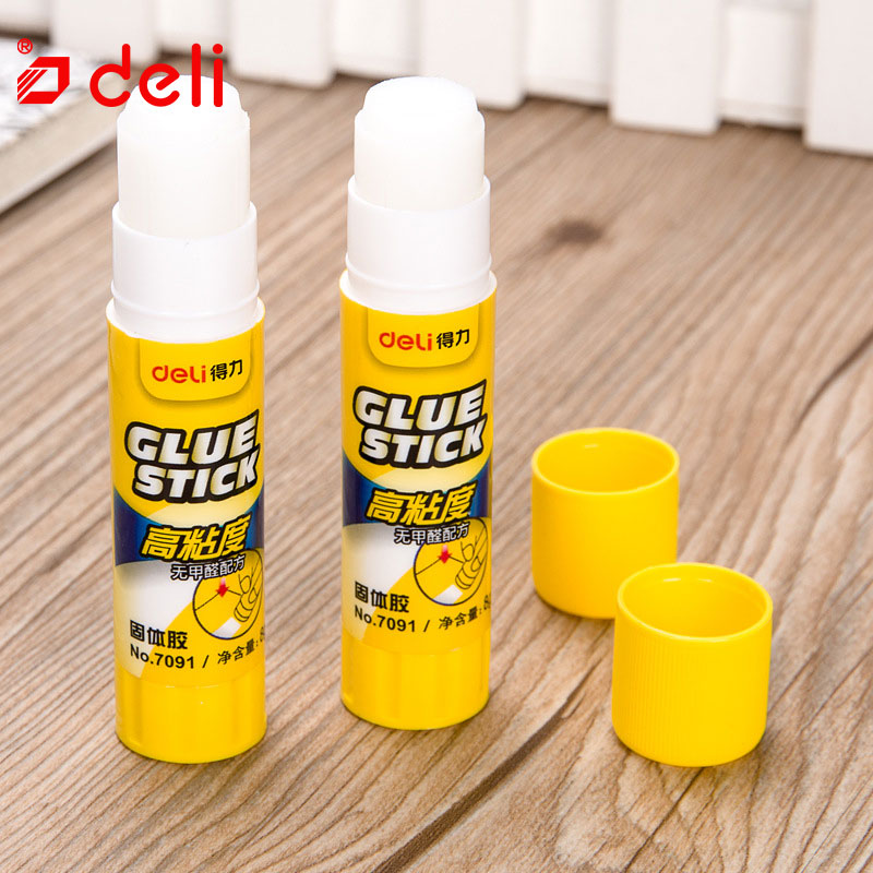 Deli 12PCS/Lots Solid Glue Stick Strong Adhesives Glue Stick For Student Stationery Solid Glue High Viscosity School Supplies