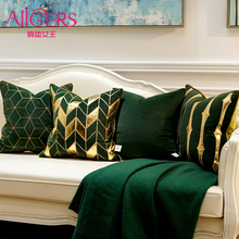 Avigers Luxury Green Gold Cushion Covers Decorative Pillow Cases Applique Throw Pillowcases 45 x 45 50 x 50 Cushion for Sofa цены