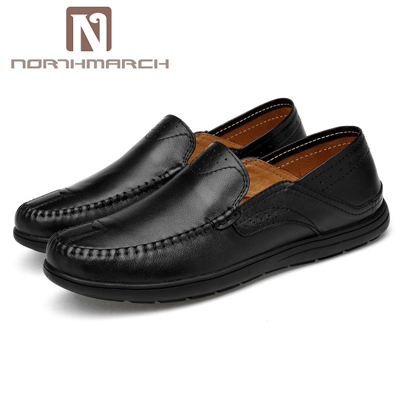 NORTHMARCH Spring/Autumn genuine leather men shoes Handmade Casual Shoes Men Moccasins For Men Leather Flat Shoes zapato hombre northmarch new arrivals spring genuine leather shoes men breathable sneakers men comfortable casual shoes zapato hombre