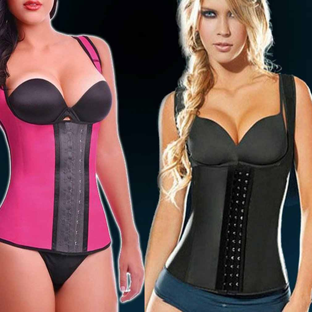 f35d4a6d311 ... Women Body Shaper Waist Trainer Belt Slimming Strap Shapewear Folding  Adjustable Vest Thin Fat Burning Girdle ...