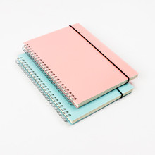 Korean A5 Coil Notebook Colored Craft Cover Spiral Composition Notepad Dot Grid Blank Line for Accounts Recording Daily Memos korean a5 a6 a7 binding leather notebook notepad composition daily memos book the office school supplies notebooks and journals
