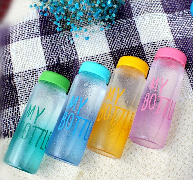 500ml Frosted Portable Seal Bottles Plastic Sports Water Bottle Leak-proof Bike Outdoor Climbing Gift High Quality