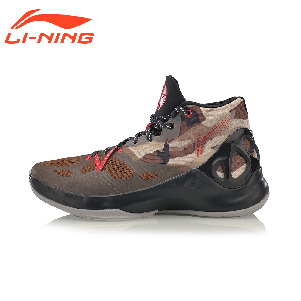Li-Ning Brand Men Basketball Shoes SonicV Series Professional Camouflage Sneakers Support LiNing Breathable Sports Shoes ABAM019 li ning men s fission iii wade professional basketball shoes lining cloud sneakers breathable sports shoes abam025 xyl109
