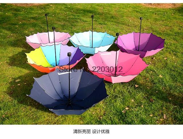 100% Оригинал Дождь и Солнце Женщины Марка Корея Зонтик Ветер Устойчивы Три Складной Sombrillas Regenschirme Damen Prinzessinen