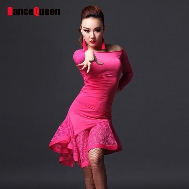 9902db1be Aliexpress.com: Comprar 2017 vestido de baile para mujer vestido Latino  para baile para dama 2 unids (Tops + falda) trajes de baile de salón Salsa  ...