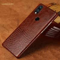 Housses pour en cuir véritable rouge mi Note 7 Pro K20 Note 8 5 4X 7A 7 housse de téléphone pour Xiao mi mi 9 9T 9T PRO 8 Lite Pocophone F1 A3 A2 A2 F1 MI 8 PRO redmi note 8 pro note 7 pro note 5 6 6a redmi 7 6 5