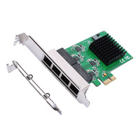 BTBcoin Network Cards Ethernet Adapter PCI Express 4 port Gigabit Ethernet Controller Card RTL8111 Chip with Low Profile Bracket