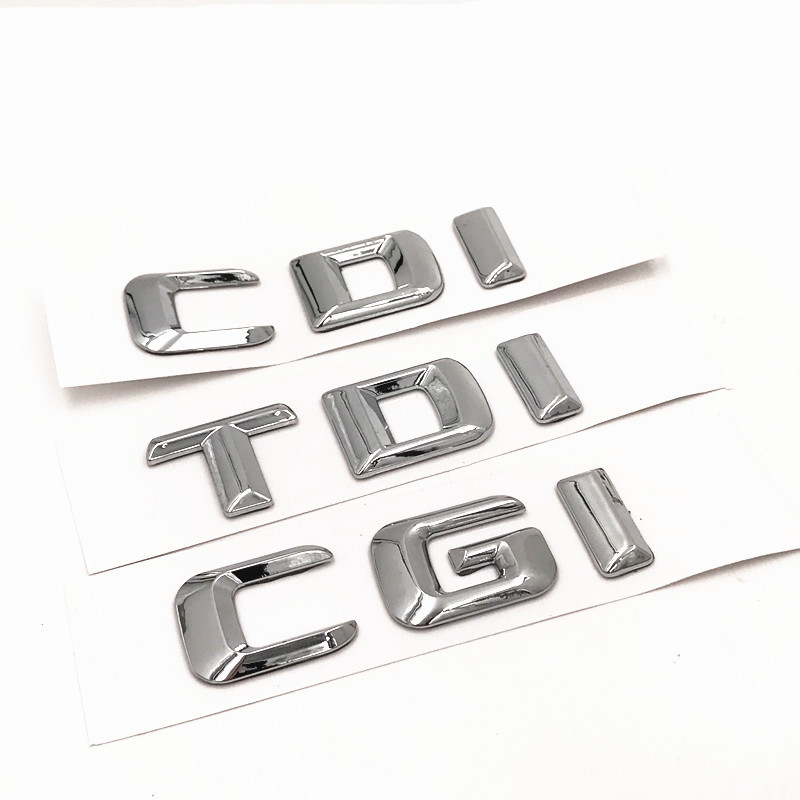 ABS Emblem Für Mercedes Benz C E CLS CDI ML CGI TDI AUDI 4 Matic Auto Kofferraum Letters Worte Aufkleber Abzeichen Emblem Aufkleber