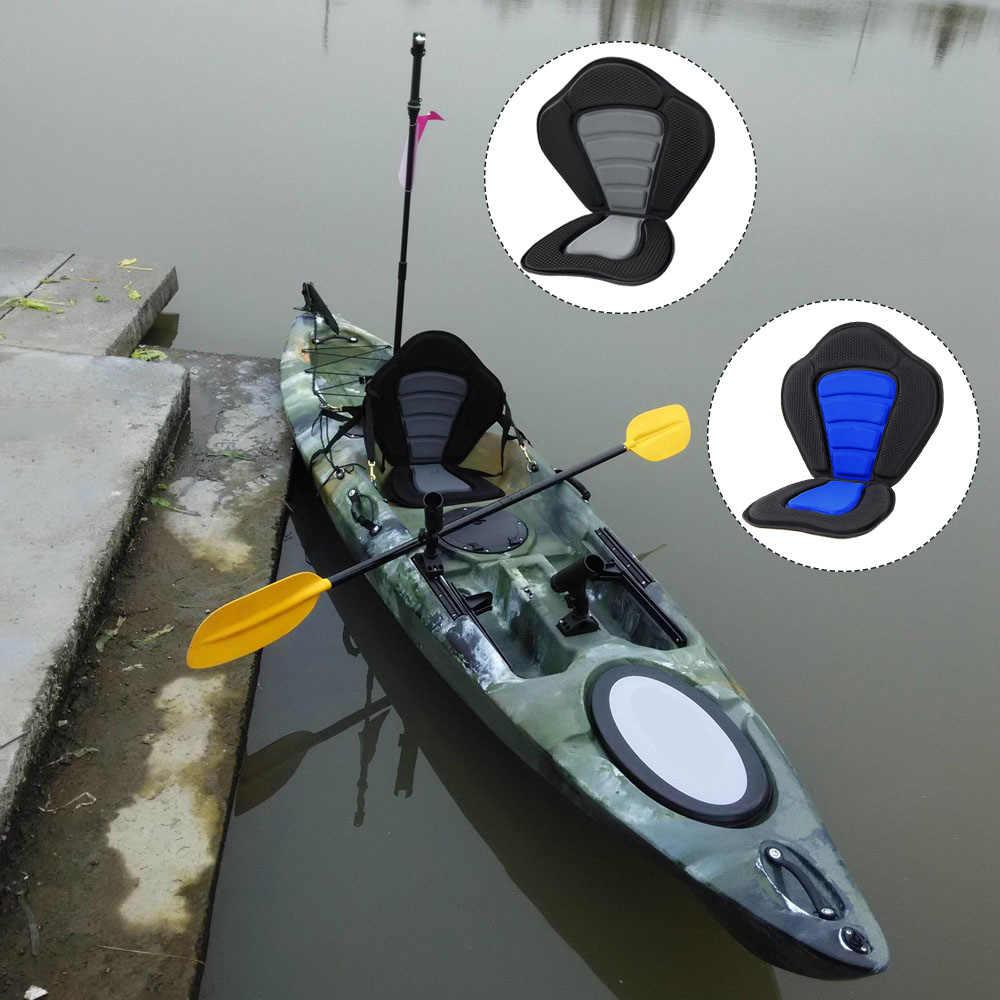 38 × 30 センチメートルカヤックソフトシートクッションパッドデラックスパッド入り漁船シート漕ぎボートパッド入り調整可能なカヤッククッション背もたれ