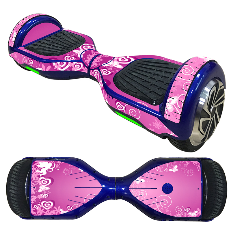 Pink LOVE Beautiful Design Decals Cover For 6.5 Inch Self-balancing Scooter Hoverboard Vinyl Sticker Decal  #TN-SBS-0016