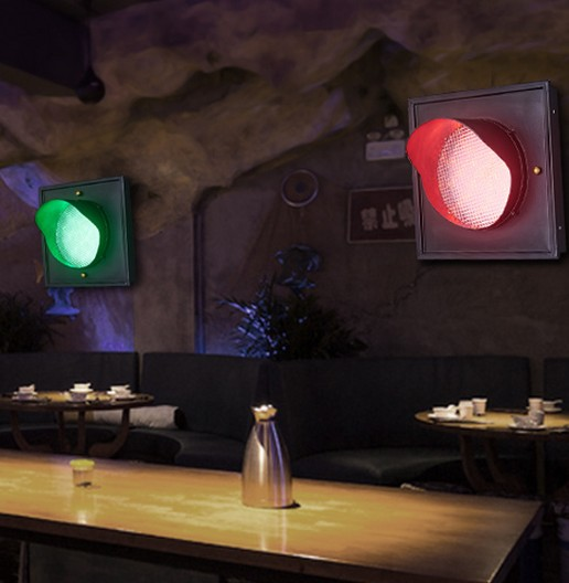 Loft Style Creative Color LED Wall Lamp Fixtures For Indoor Lighting Retro Traffic Light Wall Sconces Bedside wall Lamps