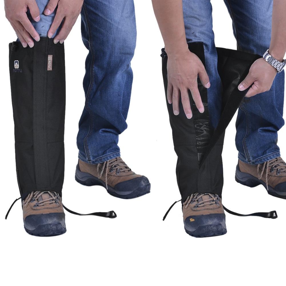 Новый мужской леггинсы ног крышка Водонепроницаемый ветрозащитный Sandproof  для кемпинга Пеший Туризм снегоходах Открытый протектор нейлон bb1c7a55a70