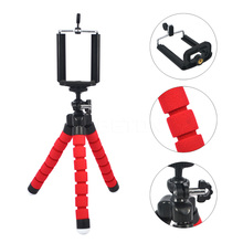 Mini Portable Flexible Sponge Octopus Tripod Stand Mount With Holder For Phone Action Camera and Camcorder For SJ4000 Gopro Hero