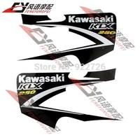 Free shipping For Kawasaki KLX250 off road Motorcycle Decals Body stickers