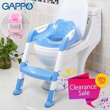 GAPPO, защитные рельсы для туалета, детский унитаз, тренер, складное кресло, регулируемая лестница, горшок для малышей, детей