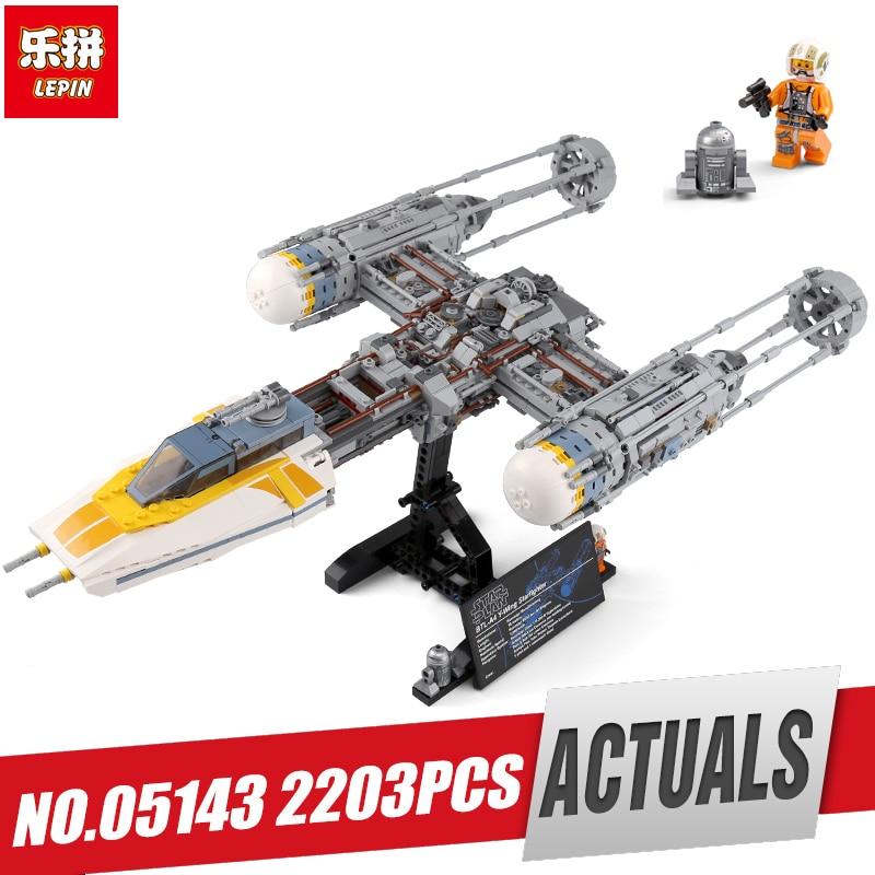 Lepin 05143 Star Plan Wars Series The Legoinglys 75181 Y wing Starfighter Set Model Building Blocks Bricks Toy as Chirstmas Gift