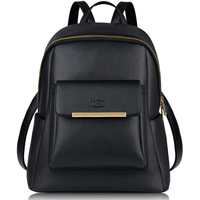 Coofit Brand Designer Ladies Female Backpack With Adjustable Straps Metal Embossing PU Leather Bagpack For Girls