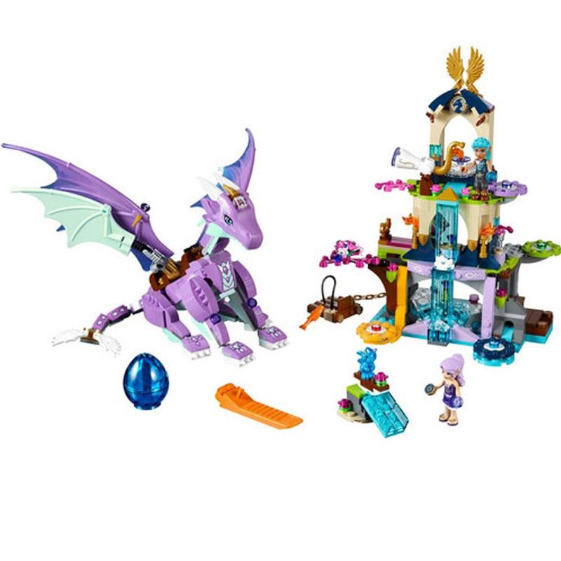 BELA 10549 Fairy Elves Dragon Sanctuary Rakennuspalikat Set DIY - Rakentaminen lelut - Valokuva 2