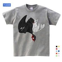 2019 New Boys T-Shirt Kids Summer Clothes Children Game T-shirt Girls Cartoon Tops Tees 3-14Y without teeth tops cute Grey white roblox letter children t shirt glow in the dark luminous kids summer clothes game t shirt for boys girls tops tees casual cotton