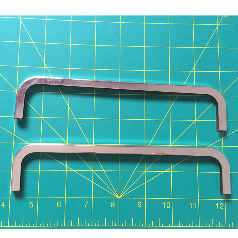 8 Inch (20cm X6cm ) Purse Edging Wallet Frame Wallet Edging Metal Edging Strip Nickel Color