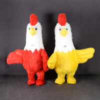 Funny Rooster Inflatable Costumes Halloween Cosplay Mascot Costume for Adults Men Women Party Dress Blow Up Plush Costume
