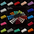 TKGOES 120pcs Nail Tips Short Design Fake Nails Faux Ongles Full Cover False Acrylic Nails Art Design Tips 20 Color Optional