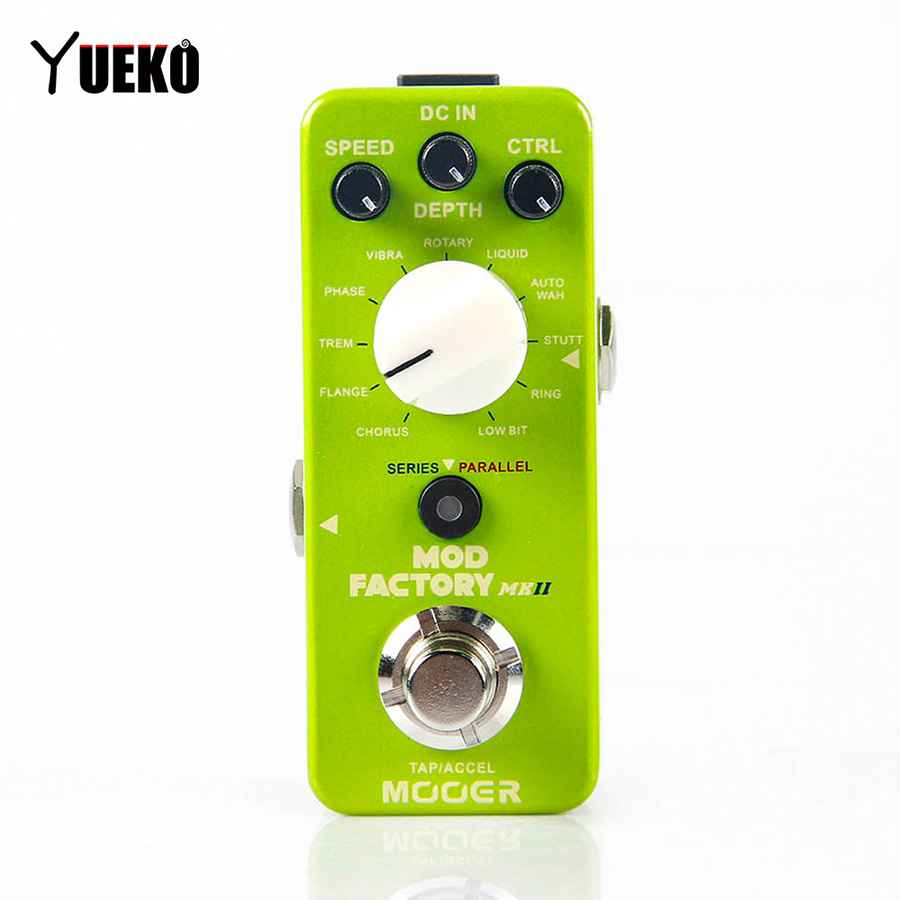 Guitar Effect Pedal MOOER MOD FACTORY MKII Multi Modulation Pedal Guitar Accessories Guitar Pedal new effect pedal mooer solo distortion pedal full metal shell true bypass